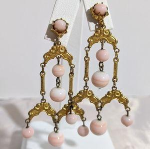 Vintage Art Nouveau Chandelier Dangle Earrings